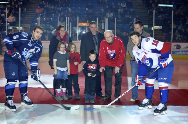 Ev and Seamus dropping puck