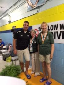Swimming medals- A Andrews, L Abbott